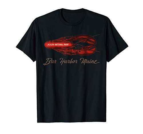 Bar Harbor Maine Acadia National Park Vintage Hummer T-Shirt