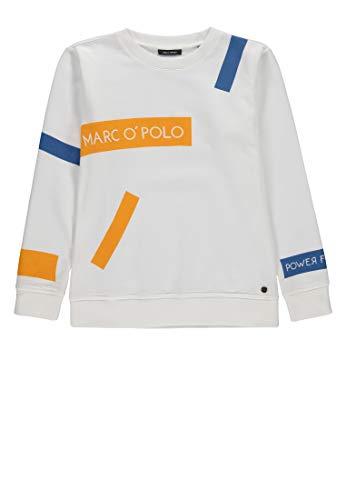 Marc O' Polo Kids Jungen 1/1 Arm Sweatshirt, (Sea Salt|Beige 1381), 146 (Herstellergröße: 146/152)