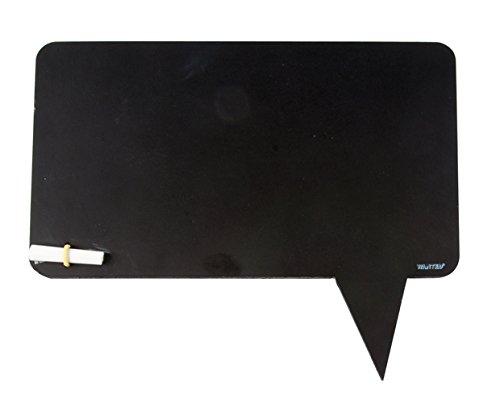 Ardoise Bulle de BD Bubble Noir Avec craie blanche et éponge jaune Silly