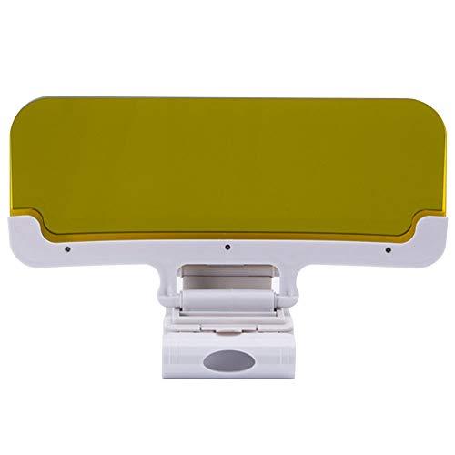 HD Auto-blendschutz-visier, 2 in 1 Blendschutz Auto Sonnenschutz Sichtschutz Schutz vom Auto Licht Uv-strahlen und Sonnenlicht, Sonnenblende Tag und Nacht Fahren, 110x320x2.0mm