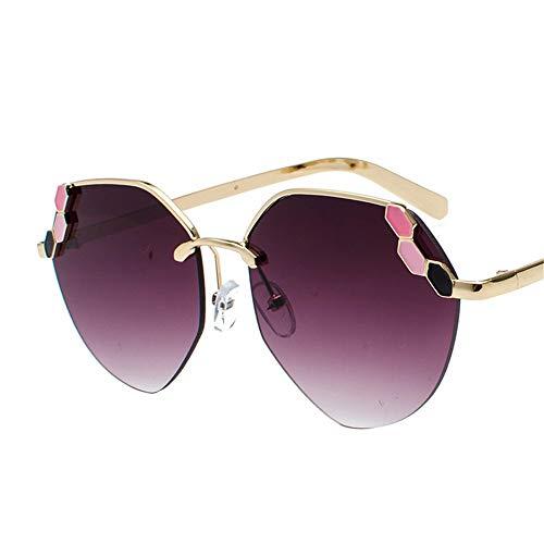 SenDi Sonnenbrillen sind die besten Mode-Accessoires des Jahres-Sonnenbrillen Korea Round Face Damen Sonnenbrillen Herren Flut Persönlichkeit Hipster elegant, lila - Korea Sonnenbrillen Männer