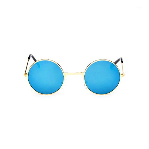 Sonnenbrille Coole Retro Schwarz Blau Runde Kids Sonnenbrille Little Girl/Boy Baby Kind Brille Schutzbrille Uv400 Kleines Gesicht Gold Blau