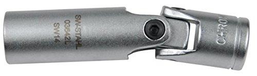 SW-Stahl Bougie Clé Joint de cardan 14 mm, 12 pans, 3/8 \