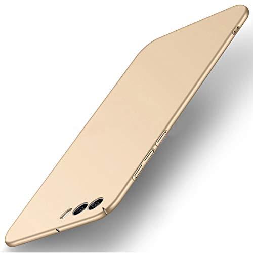 Tianqin ZTE Nubia Z17 Mini S Hülle, Ultra Leichte Schutzhülle Ultra dünnes PC Cover Harte Schale Anti-Scratch Stoßstange Einfache Stilvolle Abdeckung für ZTE Nubia Z17 Mini S - Gold