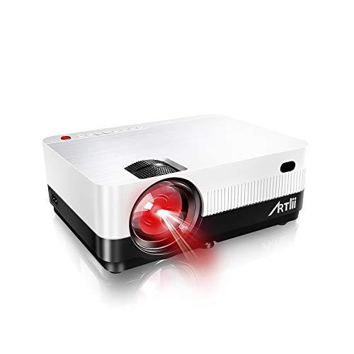 Proyector Portátil, Artlii Proyector HD de 2800 Lúmenes, soporta 1080p Full HD, HDMI x2 /AV/USB/VGA/SD Conexiones