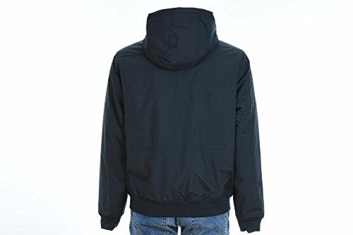 Fred Perry Herren Hooded Brentham Jacket Marine Blu