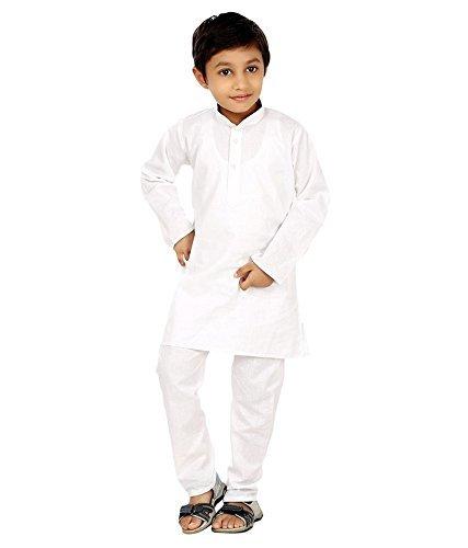 Royal Kurta da uomo Kid 'scotton Kurta pigiama White 9-10 Anni