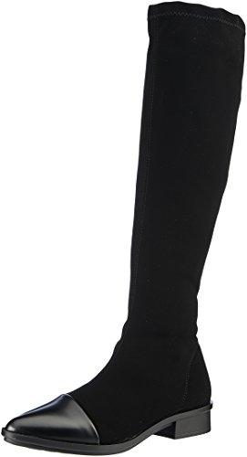 NR Rapisardi Damen E703 Stiefel, Schwarz (Black Nabuk/Black Boston), 38 EU (Stretch-stiefel Schwarze)