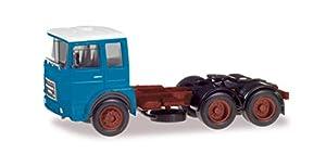 Herpa 310567 Roman Diesel - Tractor en Miniatura para Manualidades y coleccionar, Color Azul Claro y Blanco
