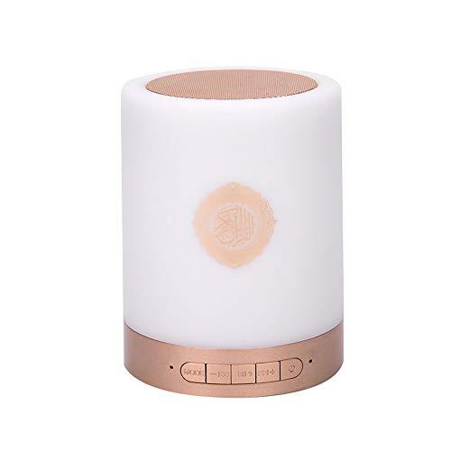 YOZOOE Beweglicher Quran-intelligenter Noten-LED Lampe Bluetooth-Sprecher mit Wieder aufladbarem Fernsprecher Tragbare Bluetooth-Lautsprecher (Farbe : Gold)