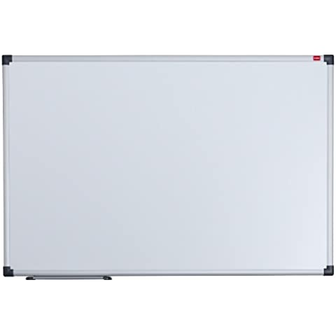 Nobo Elipse - Pizarra magnética (900 x 600 mm, acero, con marco de aluminio, se borra sin residuos), color