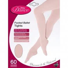 Silky Girls Full Foot Ballet Dance Tights In 4 Colours Age 3-13 (Age 3-5, Theatrical Pink)