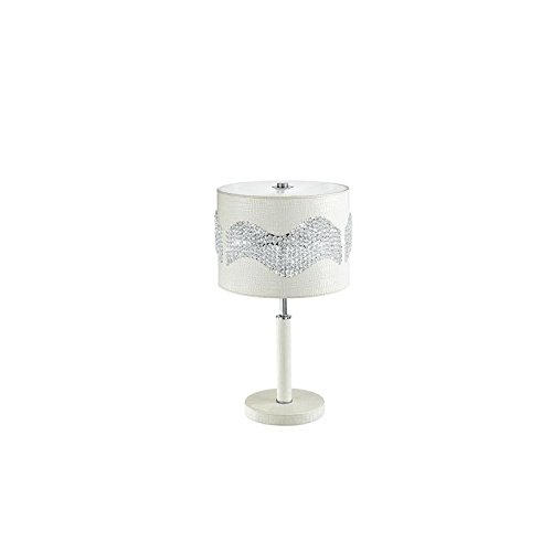 FAN EUROPE - Eclipse lampada ecopelle avorio con cristalli 1 luce