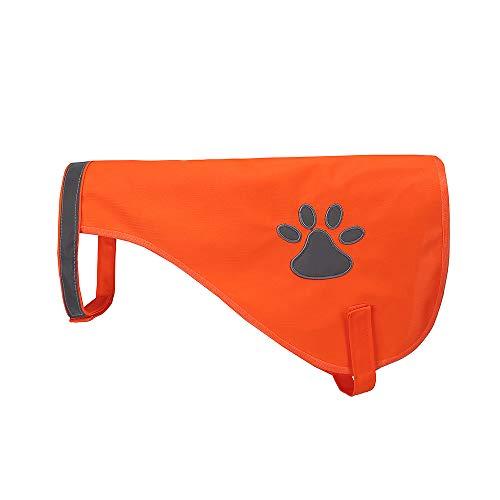 AYKRM Reflektorweste für Hunde, Hunde Warnweste (40, orange)