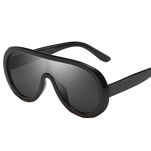 Mode Damen Herren Retro Vintage Sonnenbrille Polarisiert Brille Punk UV-Schutz Spiegel Metall Rahme Gläser Outdoor Verspiegelt PPangUDing Fahrer Design Classic Original (Eine Größe, Mehrfarbig)