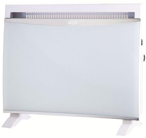 Argoclima Glam White Termoconvector Eléctrico con Panel Vidrio  1500 W  Cristal  Blanco