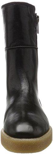 Marc O'Polo Damen Flat Heel Bootie 70914296001127 Schlupfstiefel Schwarz (Black)