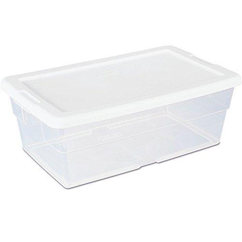 Sterilite 6Quart Aufbewahrungsbox-Single Box (weiß) (47/20,3cm H x 81/10,2cm W x 135/20,3cm L) (Sterilite Aufbewahrungsbox)