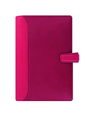 Filofax Nappa Cerise Pink Personal Deluxe Leather Organiser Diary 025157