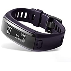 Garmin Vívosmart HR - pulsera de actividad con pulsómetro integrado Garmin Elevate, color púrpura, talla normal
