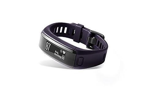 Garmin Vivosmart HR - Bracelet d'Activité avec Cardio Poignet - Violet (Violet) - Taille : Regular