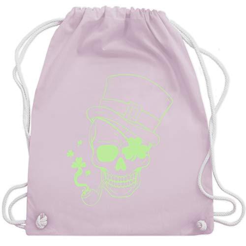 St. Patricks Day - St. Patricks das Skelett Kopf - Unisize - Pastell Rosa - WM110 - Turnbeutel & Gym Bag (Extra Kopf Kostüm)