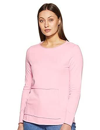 ABOF Women's Sweatshirt (BOA18AWWWSS2057900_Pink_S)