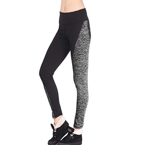 Damen Yogahose Mit SteigbüGel, Weant Frauen 3/4 Yoga Hose High Waist Sport Yogahose Leggings Sporthose Jogginghose Workout Fitness Caprihose Trainingshose S-3XL -
