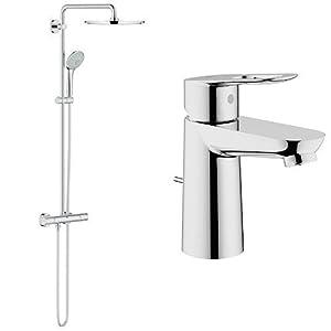 Grohe Euphoria XXL System 310 – Sistema de ducha con termostato + 23335000 – Grifo de baño