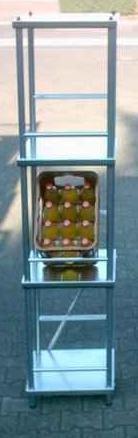 Getränkekistenregal, Kistenständer, Kastenregal, 180x42x38cm - 99 Jahre Garantie!