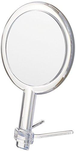 Moderne Spiegel Handheld Travel Make-up-Spiegel mit verstellbarem Ständer & 5oder 1x Vergrößerung-Fähigkeit, klar -