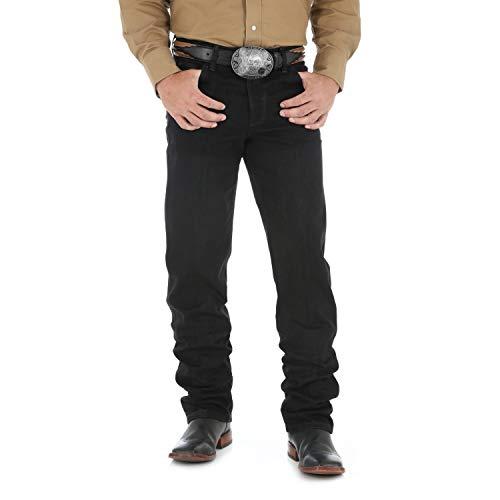 Wrangler Schwarzen Cowboy-jeans (Wrangler Herren Jeanshose im Cowboy-Schnitt Regular Fit - Schwarz - 50W / 30L)