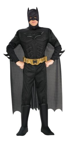 Batman Kostüm für Herren The Dark Knight, (Kostüm Medium Batman)