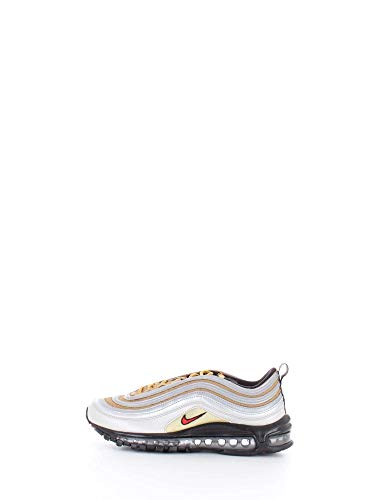 Nike Air Max 97 SSL Herren Running Trainers BV0306 Sneakers Schuhe (UK 7.5 US 8.5 EU 42, metallic Silver University red 001)