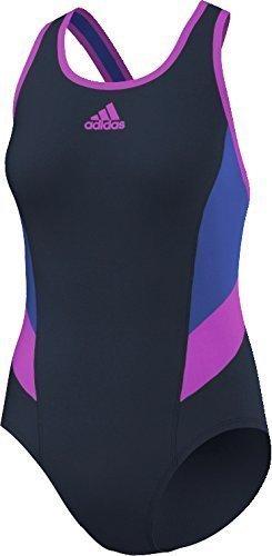 adidas I INS 1PC - Bañador para mujer, color negro / azul / rosa, talla 38