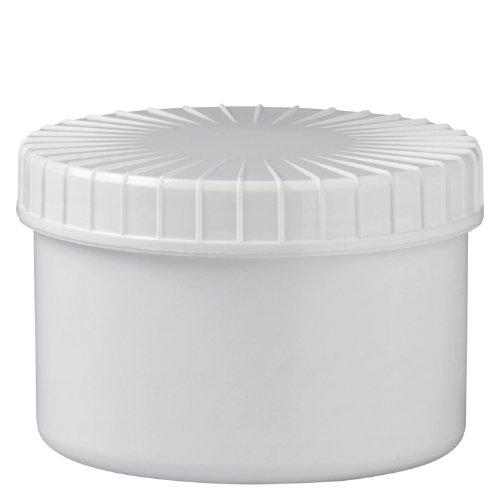 10x Schraubdose 250ml aus weissem PP mit gerilltem Schraubdeckel 250 Ml-dose