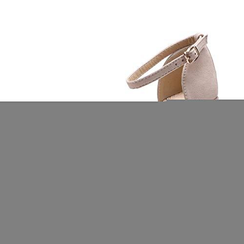 Espadrilles Keilabsatz Wedges Schuhe Mit Absatz Sandaletten für Damen, Dorical Frauen Mädchen Übergrößen Strandschuhe Schnallesandalen,Bequem Casual Outdoor Schuhe 35-43 EU Reduziert(Beige,36 EU) -