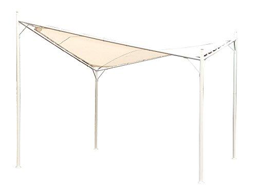 Verdelook vela, gazebo con struttura in metallo verniciato, 3.6x3.6 m, bianco