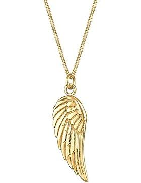Goldhimmel Damen-Halskette Flügel 925 Sterling Silber vergoldet Länge 45cm