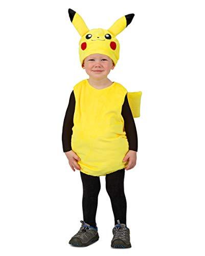 Horror-Shop Pokemon Pikachu Kleinkinder Kostüm für Comic Con & Fasching 1,5-2 Jahre (Pikachu-kostüm Für Kleinkinder)