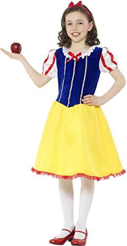 Smiffys Deluxe Schneewittchen Kinderkostüm Mädchen Karneval Princess Snow Girl Costume