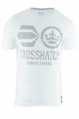 Crosshatch Herren T-Shirt Weiß