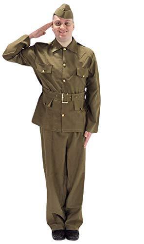 Erwachsene Herren WW2 Britische Armee Militär Soldat 1940s Jahre Bürgerwehr Kostüm Kleid ()