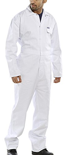 Click Cotton Drill Boilersuit White - 54