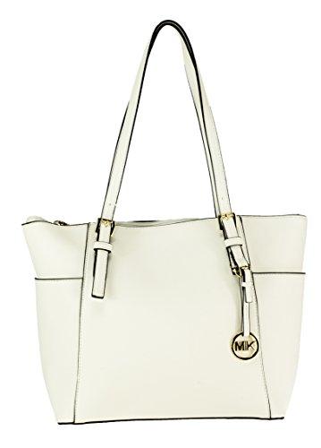 MIK Trendy Damen Schultertasche Handtasche PU-Ledertasche Grob (White)
