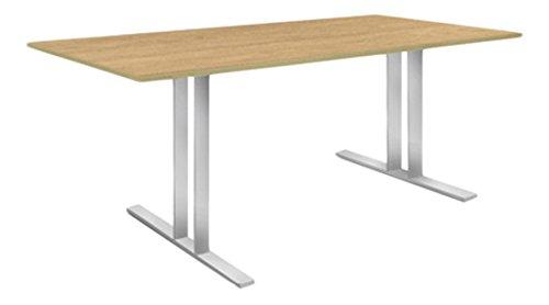 weko Systemmöbel baureihe e AZ-TYP-17C2 Tisch, Holz, edelstahl, 100 x 220 x 75 cm