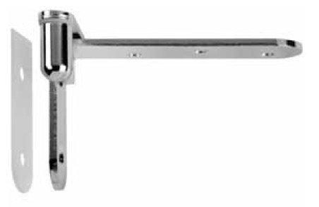 Coppia Cerniera a bilico per porta interna CAB SFS intec - Nichel opaco