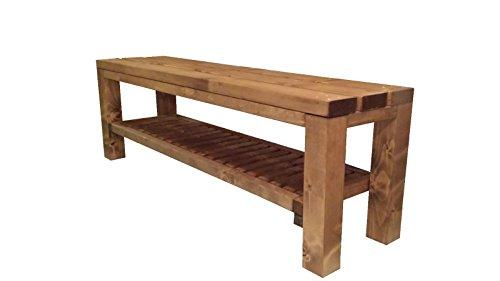 Gartenbank schuhbank Sitzbank Holzbank für Innen und Außen geeignet 150x38.5x50 cm. Nach Maß verfügbar!