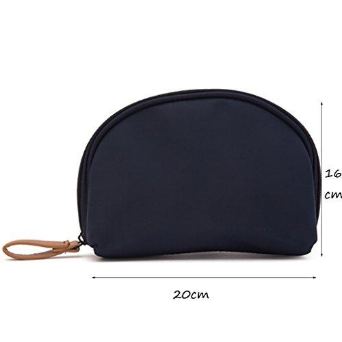 CLOTHES- Piccolo sacchetto cosmetico portatile sacchetto cosmetico portatile sacchetto cosmetico portatile sacchetto di lavaggio sacchetto di stoccaggio ( Colore : Blu ) Marina