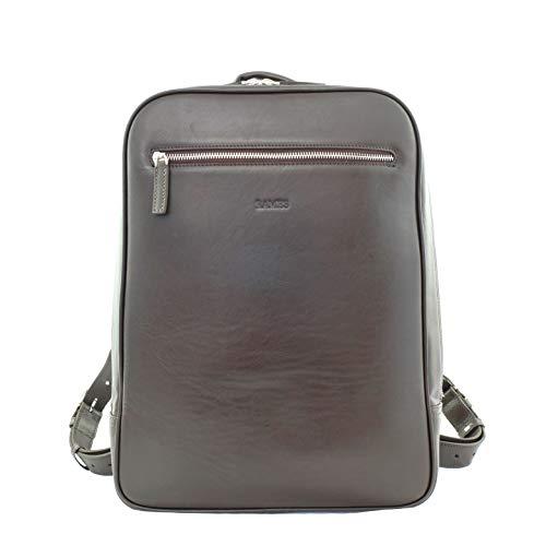 RAMES Business Rucksack 12 Liter | Für 15 Zoll Laptop | Hochwertiges Nappa-Leder | Herren/Damen Backpack | Mit Reißverschluss und Innentaschen | Handarbeit/Nachhaltig | Maße (BxHxT): 30x40x11 cm